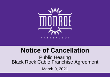 Public Hearing Cancellation