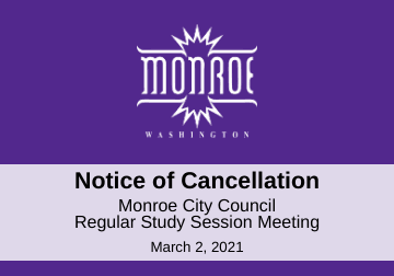 Notice of Cancellation-City Council 03.02.2021